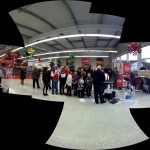 Pendle Youth Choir singing at Sainsburys in Colne