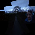 Near Barbon with a ghostly Izzy
