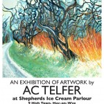 AC Telfer exhibition at Hay on Wye