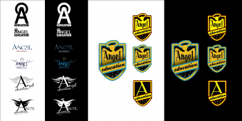 Angel Education logos - ideas sheet