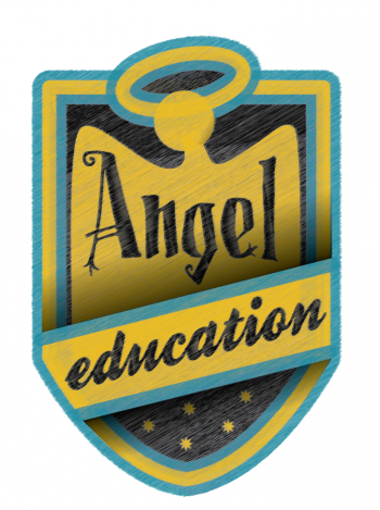 Angel Education logo - blazer badge