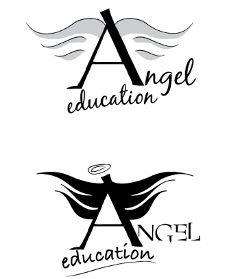 Angel Education logos - sketchy with wings